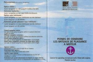 Permis bateau international reconnu ICC
